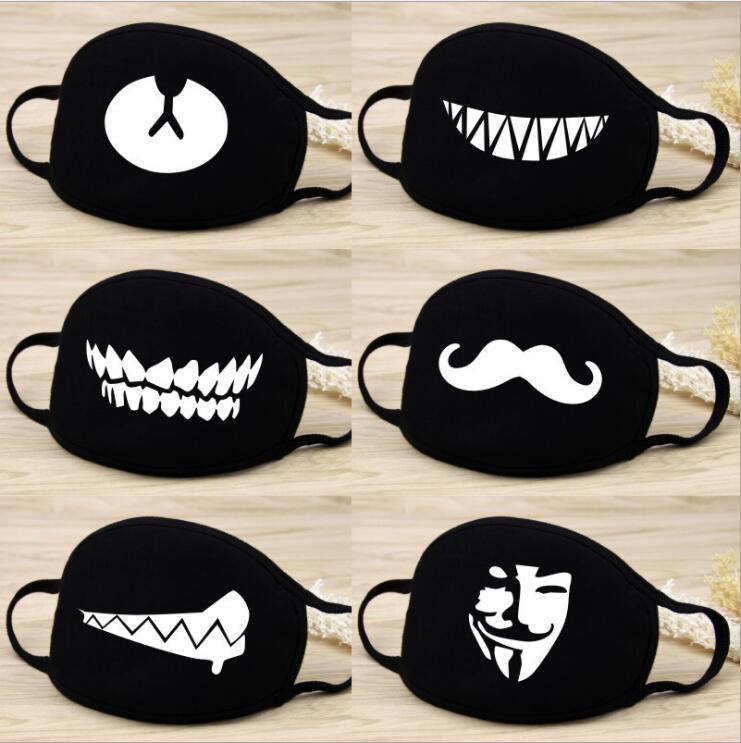 2PCS Cartoon Cotton Masks Festive Party Respirator Keep Warm Cotton Cute Bear Mask Camouflage Anti Dust Mouth Muffle Respirato
