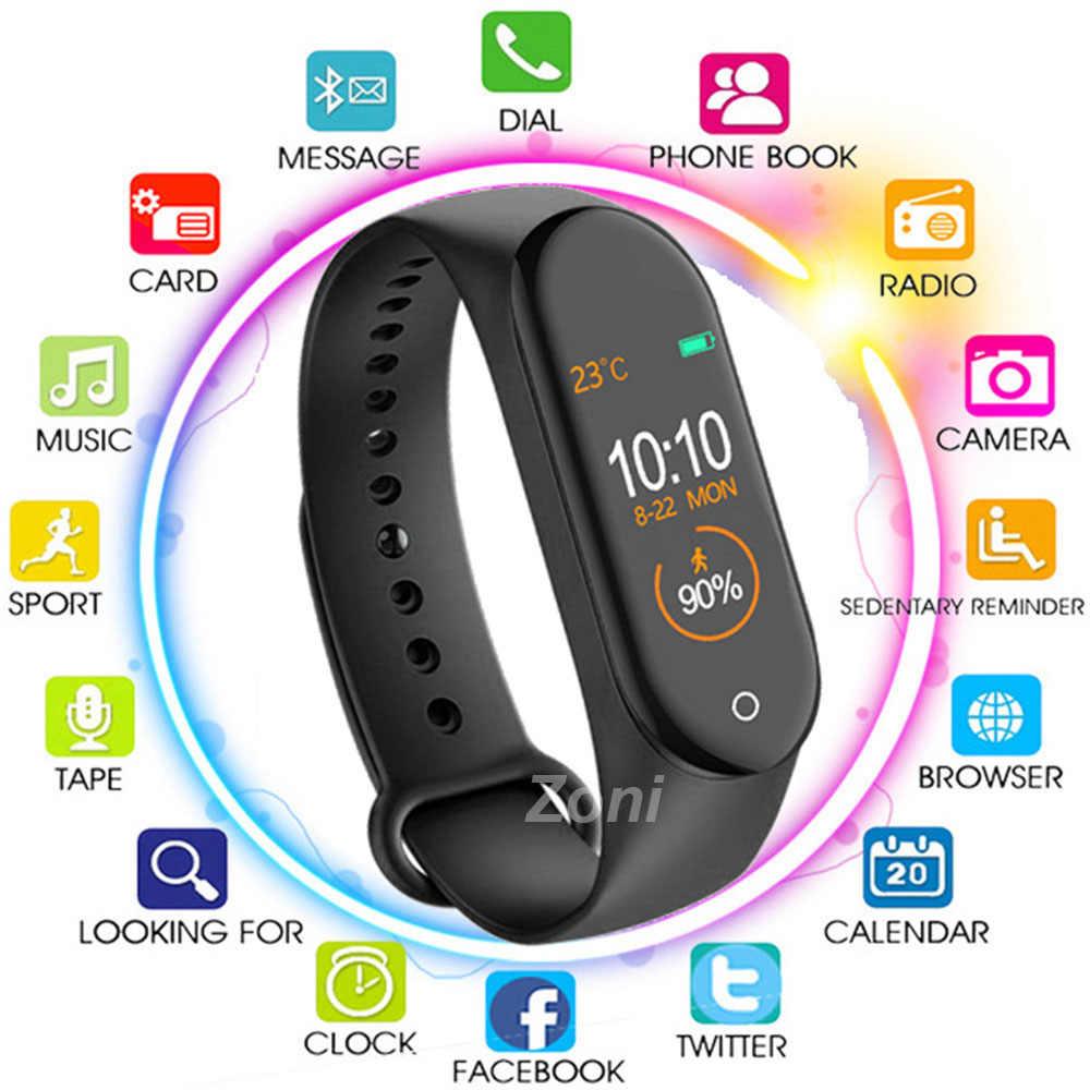 M4 חכם צמיד שעון להקת 4 כושר גשש ספורט קצב לב לחץ דם Smartband צג בריאות צמיד PK M3 להקה 4