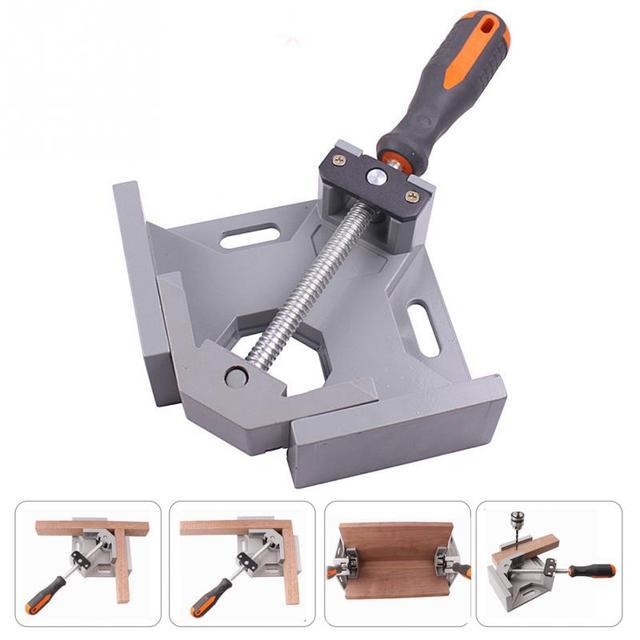 Alumínio único punho 90 graus ângulo direito braçadeira de ângulo braçadeira carpintaria quadro clipe ferramenta pasta ângulo direito