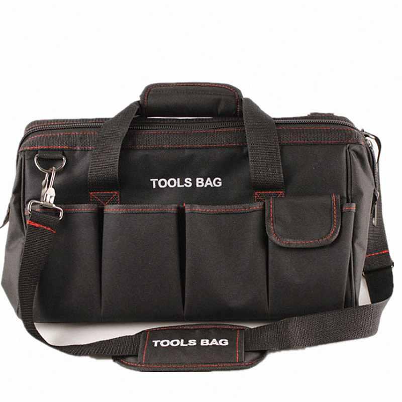 Multifunction 12 14 16 18 Inch Electrician Tool Bag Waterproof Large Capacity Bag Travel For Hardware Crossbody Repair Packaging