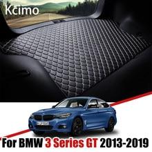 De cuero estera de maletero de coche para BMW Serie 3 Gran Turismo 2013-2019 maletero bota Mat 3Srieis GT de almohadilla de alfombra BMW F34 de carga del trazador de líneas