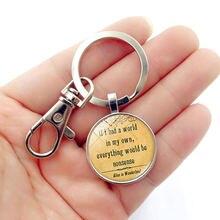 Wg 1 шт модный брелок для ключей «Алиса в стране чудес» с драгоценным