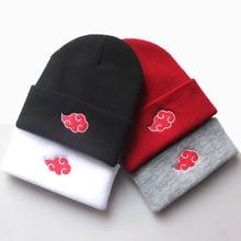 Hat Embroidered Cap Akatsuki Cosplay Anime Uchiha Girls Women Cloud Fans Gift Knitted