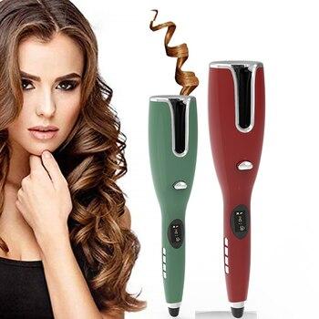 Rizador de pelo automático, rizador de pelo, barra de hierro, cable LCD, clase de salón, escultor, rizos de barbero, ondas, máquina eléctrica giratoria para mujeres