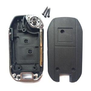 Image 4 - 2 taste Für Peugeot 307 206 207 Für Citroen C2 Geändert Remote Key Shell Fob Flip Folding Auto Schlüssel Fall abdeckung Mit Uncut klinge