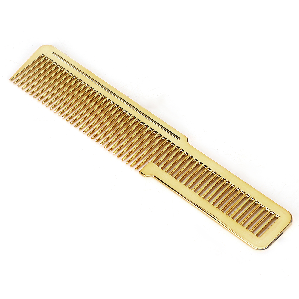 Quality Professional Hair Comb Hairdressing Home Salon Hair Cutting Styling Comb Tool Non-slip Handle Gold