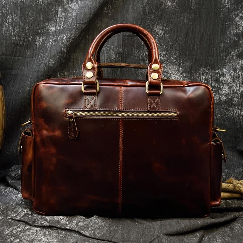 """Hf02bb638ff134473af93098f99efe333W MAHEU Men Briefcase Genuine Leather Laptop Bag 15.6"""" PC Doctor Lawyer Computer Bag Cowhide Male Briefcase Cow Leather Men Bag"""