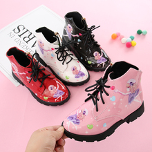 kids shoes for girl boots Girls Princess Shoes Short Boots Baby Shoes Cartoon Children Snowfield Leather Martin Boots Child Shoe 2019 autumn new fashion children single boots male girl shoe soild student non slip short boots child martin boots