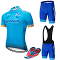 2018 Команда Астана комплект велосипедной одежды велосипед для мужчин велорубашка MTB Racing Ropa Ciclismo Лето Hombre одежда для велоспорта Джерси