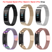 Bracelet For Huawei Band 4 Pro / Band 3 / Band 3 Pro Strap Band Stainless Steel Milanese Watchband Metal Watch Wristband
