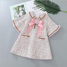 Нарядные платья для девочек; модные высококачественные детские платья принцессы; детское платье с большим бантом; Милая одежда для маленьких девочек