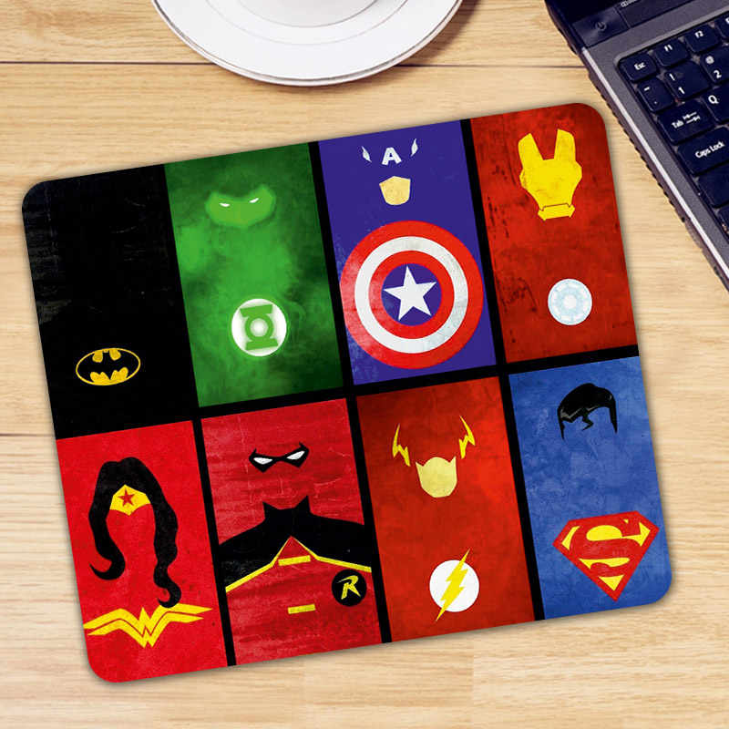 Batman Green Lantern Captain America Iron Man Wonder Woman Flash Superman Mouse Pad Mousepad Gaming Mouse Mat Meja Mice Pad