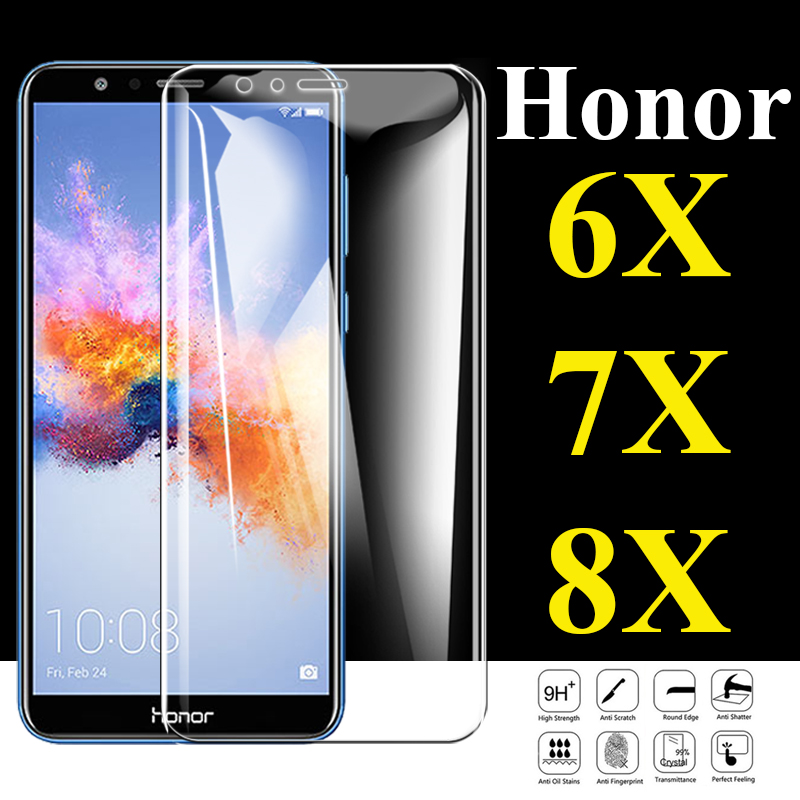 Protective Glass On The For Huawei Honor 8x Screen Protector 6x 7x Tempered Glas 6 7 8 X X6 X7 X8 Huawai Honer Cam Sheet Armor