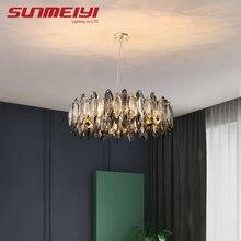 Plafonnier Led suspendu en cristal, Design moderne et créatif, éclairage d'intérieur, luminaire décoratif de plafond, idéal pour un salon, une chambre à coucher ou un Loft