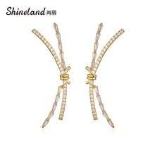 Женские массивные серьги гвоздики shineland с большим крестиком