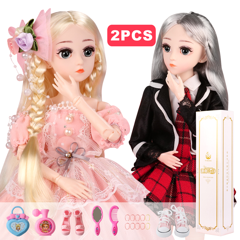 UCanaan (BUY 1 GET 1 FREE) BJD Doll 1/4 18 Ball Jointed SD Dolls With Clothes Set Outfits Best Gift for Girls Children Playhouse