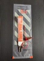 Werbe Trend Keychain Ring Gummi Brief Tasche Handy Anhänger European American Beliebte Auto Schlüssel Ring Paar Geschenk