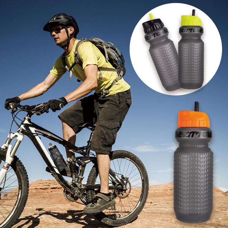 650ml Portable Outdoor Sports Bottle MTB Bicycle Smart Water Bottle Leak-proof Outdoor Bike Sports Drink Cup Cycling Equipment