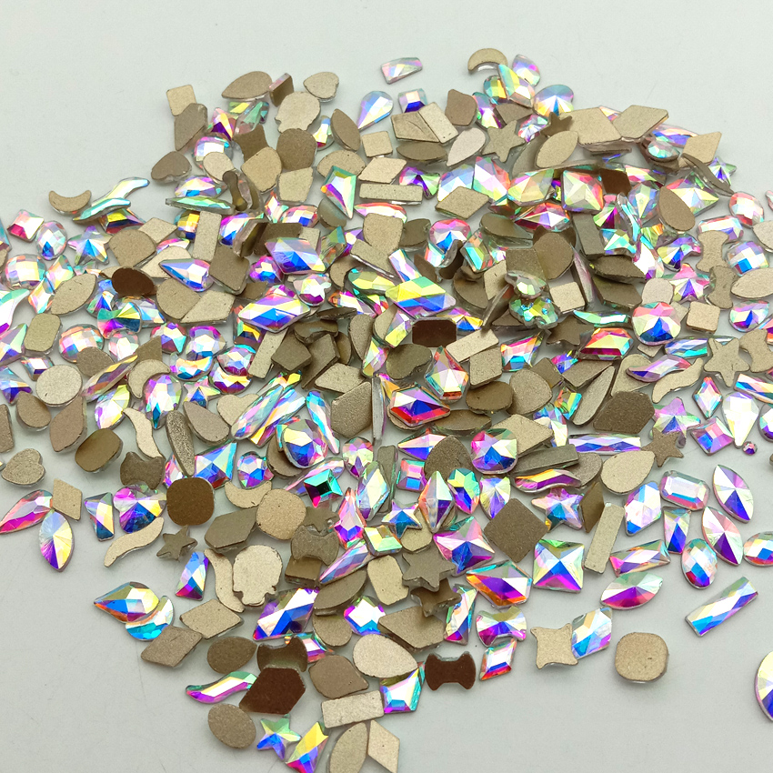 500 pcs arte do prego strass decoracao pedras acessorios para unhas ab brilhante diamante flatback gemas