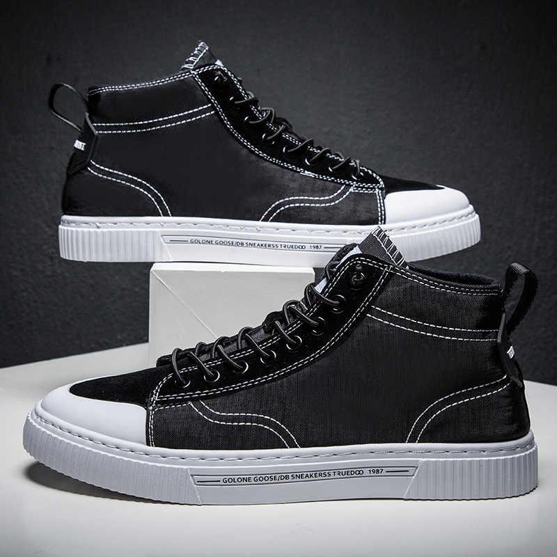 2019 جديد تنفس الأحذية للمساعدة المد الأحذية حذاء رجالي كاجوال الاتجاه الرجال الصيف مظلة القماش أحذية رجالي الجملة
