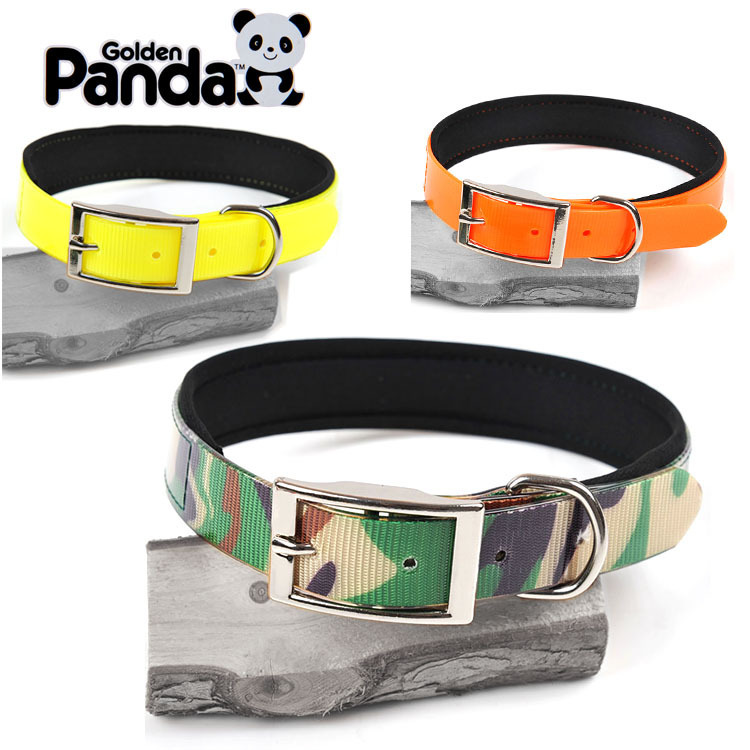 Dog Neck Ring TPU Popular Brand Pet Collar Nursing Dog Circle Camouflage Collar Bandana Gold Panda Dog Collar