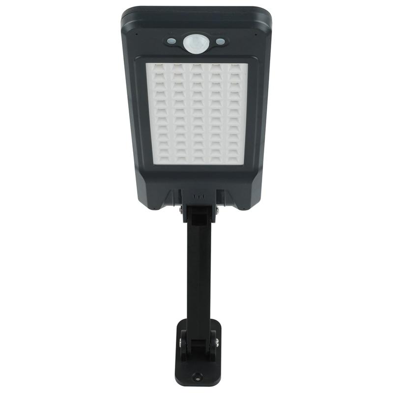 Işıklar ve Aydınlatma'ten Çim Lambaları'de 60 LED güneş duvar lambası kısılabilir sokak lambası PIR hareket sensörü açık bahçe uzaktan kumanda ile su geçirmez güneş lambası bahçe title=