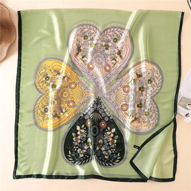 Long Silk Scarf Women Luxury Brand Designer Pattern Foulard Hijab Bohemian Bufanda Mujer Oversize 2020