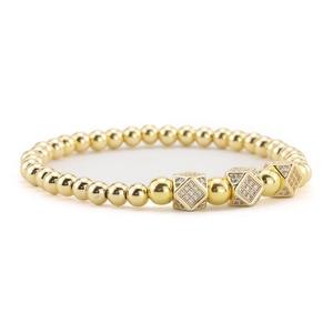 Image 4 - 3pcs/Set Luxury Gold beads Royal King Crown Dice Charm CZ Ball Men Bracelet mens fashion bracelets & bangles for Men Jewelry
