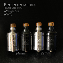 Vape Berserker BSKR v1.5 and v1.5 mini MTL RTA atomizer Tank RBA 22mm 24mm Single Coil atomizer vaper RTA MTL original digiflavor espresso genesis sub 0 4 ohm tank atomizer 22mm version