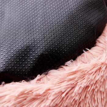 Super Soft Washable Dog Bed Sofa Long Plush Kennel Deep Sleep House 5