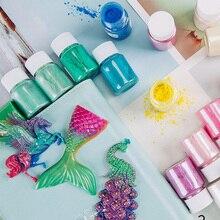 38 Colors10g Слюды Порошок Эпоксидной Смолы Краситель Пигмент Перлы Слюды Природный Минеральный Порошок Челнока