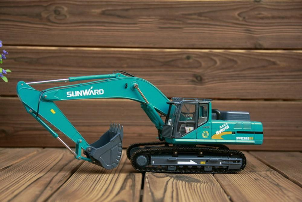 1/35 Scale SUNWARD SWE385ES Hydraulic Excavator Diecast Model Collection Toy Gift