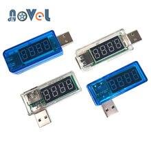 Digital usb de carregamento de energia móvel tensão atual testador medidor mini carregador usb doutor voltímetro amperímetro virar transparente azul