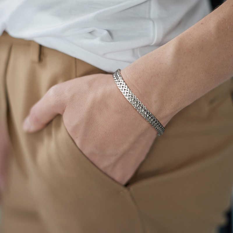 สแตนเลสสตีลบาหลีFOXTAIL CHAINสร้อยข้อมือคู่สร้อยข้อมือARMBANDเครื่องประดับชาย