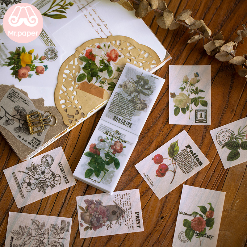 Mr Paper 100 Pcs 8 Designs Memo Pad Transparent Notes Loose Leaf Notepad School Office Supply Escolar Papelaria Gift Stationery
