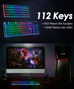 Image 5 - RK61 Mechanical Gaming Keyboard  TKL 61 Keys Wireless Bluetooth 60% RGB Blue Brown Red Switch KeycapsPBT Pudding Keycap Keyboard