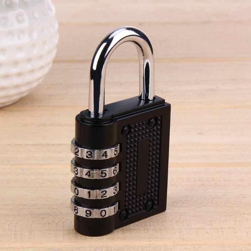 Top vente 4 cadran chiffre mot de passe serrure combinaison valise bagages Code métallique cadenas en alliage de Zinc armoire casier cadenas