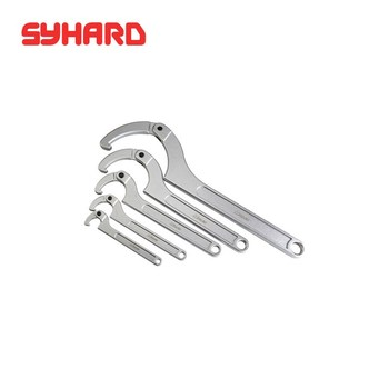 35-180mm Round nut adjustable round head hook-type wrench multifunction universal spanner hand tool crescent wrench (1 piece)