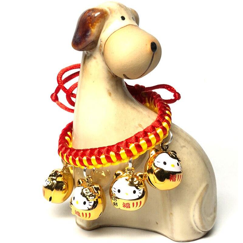 Dog Cartoon Bell Neck Ring Lanyard Bell Necklace Poodle Pet Cat Bell Jin Wai 15 Cm-30 Cm