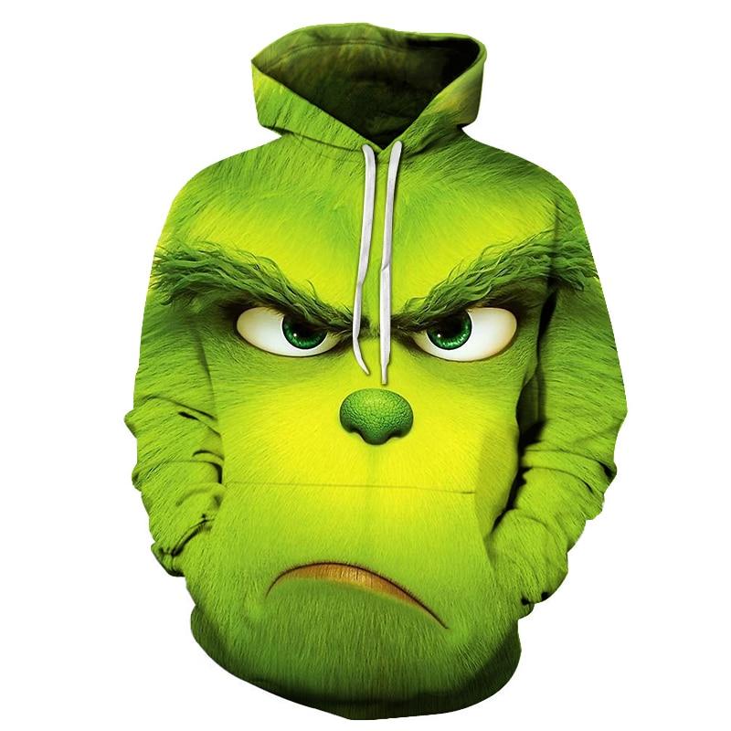 2019 Hot Sale Movie The Grinch 3D Printed Sweatshirts Men Hoodies Unisex Tracksuits Fashion Pullovers Streetwear 6XL Hoodie
