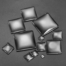 5-50pcs/lot Size 6-40mm Square Glass Cabochon CameoTranspare