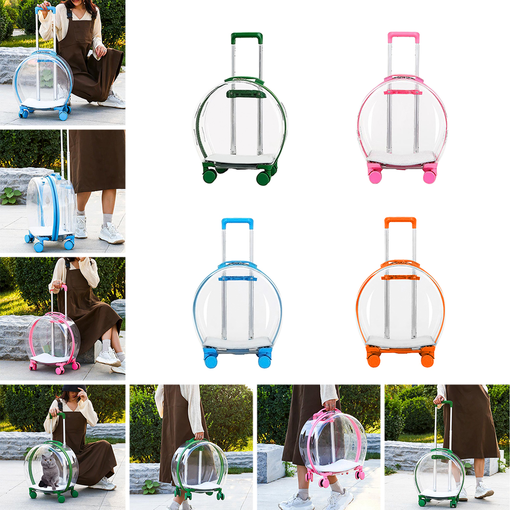 Pets Carrier Backpack Trolley Case Puppy Cat Bag Bubble Box Breathable