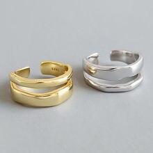 Anéis de jóias de estilo coreano anéis de jóias de moda meninas anéis de abertura de jóias de moda simples anel de ouro liso