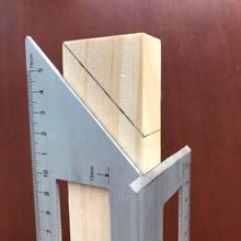 Stop aluminium drewniany kwadrat wielofunkcyjny linijka 45 90 stopni Gauge Rule narzędzia do obróbki drewna Drop Shipping