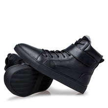 Top Quality Brand High Help Men Genuine Leather Lace Up Wint