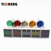 1Pcs Big screen circular Square indicator AC digital voltmeter  AC20V-500V voltage meter tester