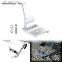 Motorcycle Foot Pedal Stand Kickstand Extension Chrome For Harley Softail Fat Boy Lo FLSTFB 2009 2016 Deluxe 2007 2017 FLSTFBS