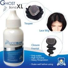 GHOST Bond, 38 мл, парик на шнурке, клей, парик, невидимый клей для наращивания волос, инструмент для замены жидкости, 1,3 флуз, клей для укладки волос