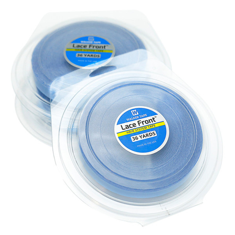 Fita adesiva dupla face para cabelo, 36 jardas azul de renda frontal fita adesiva para extensão de cabelo/toupee/renda perucas, perucas
