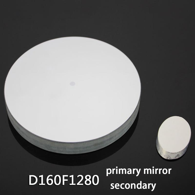 Newton Reflective Astronomical Telescope D160f1280 Spherical Reflective Objective Lens + Secondary Mirror DIY Homemade